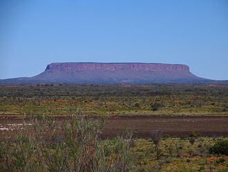 Mount Conner - Mount Conner seen from the road to Uluru