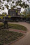 foto van Seinhuis bij het gelijktijdig gebouwde Muiderpoortstation