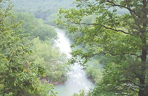 Mulberry River (Arkansas) - The Mulberry River flows through the Ozark Mountains.