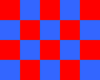 Multiplication - 4 × 5 = 20. The large rectangle is composed of 20 squares, each having dimensions of 1 by 1.