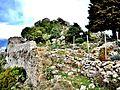 Muraille nord et ruines du l'ancien village médiéval.jpg