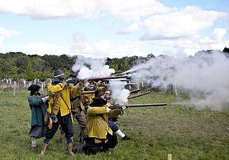 Battle of Braddock Down - Historical re-enactment of the Battle of Braddock Down in England