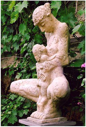 Dorothee Raetsch - Image: Mutter mit Kind Zweitfassung