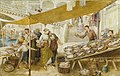 Myles Birket Foster The fish market on the steps of the Rialto Bridge.jpg