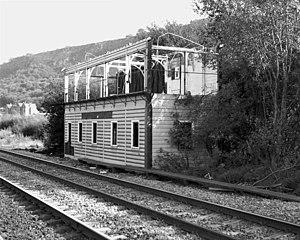 Mytholmroyd railway station - Image: Mytholmroyd West (2322718192)