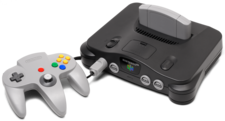 The Nintendo 64 with his Gamepad