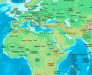 Abbasid Revolution - National borders in the region by 800AD.