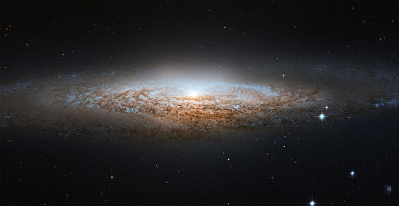 NASA spotted the spiral galaxy NGC 2683 using the Hubble Space Telescope.