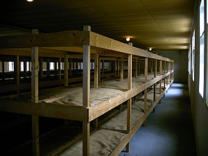 Herzogenbusch concentration camp - Beds in the baracks of the camp