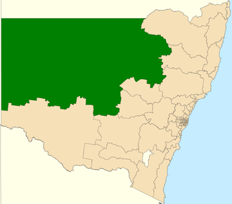 Electoral district of Barwon - Location in New South Wales