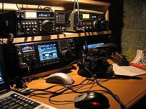 Icom Incorporated - An amateur radio station comprising three Icom radios.