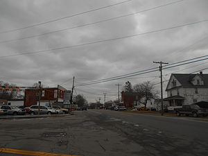 Hartland, New York - The hamlet of Johnson Creek along Route104