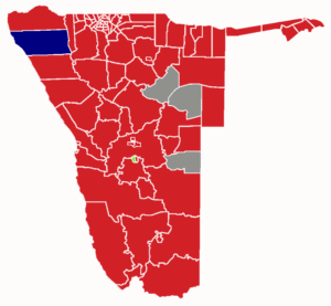Namibian general election, 2014 - Image: Namibia 2014 Election Results Map