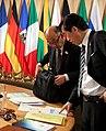 Naoto Kan cropped 3 Angela Merkel David Cameron Barack Obama and Naoto Kan 20100625.jpg