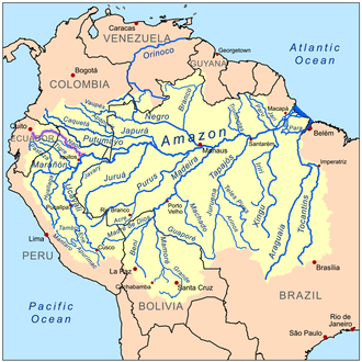 Napo River - Image: Naporivermap