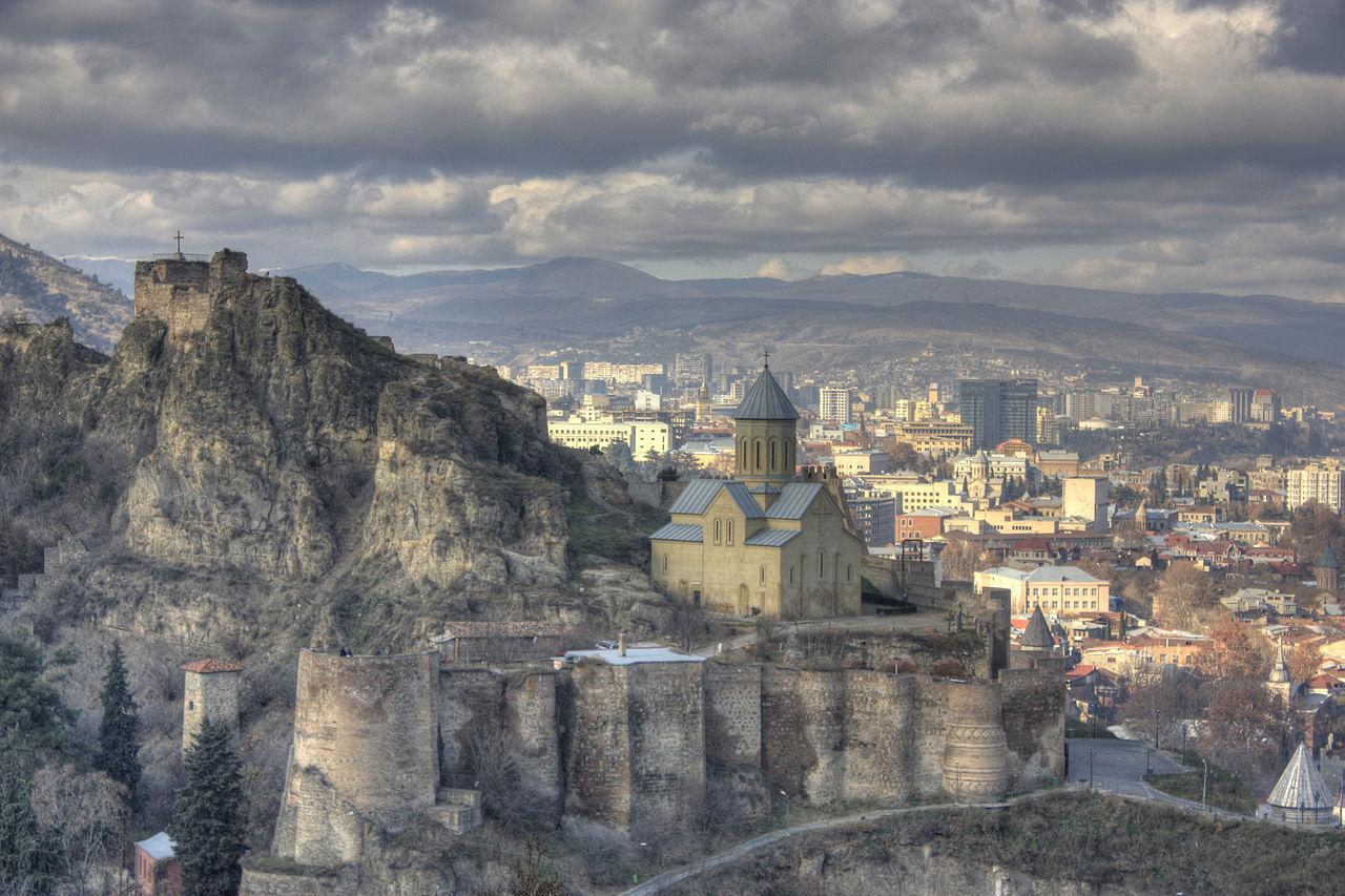 File narikala fortress tbilisi wikipedia for Georgia fotos