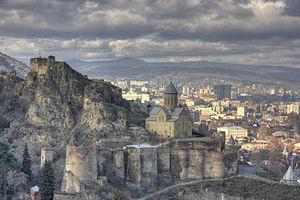 English: The fortress of Narikala ნარიყალა and...