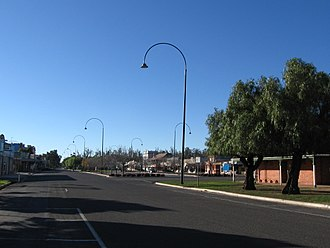 Murray Valley Highway - Murray Valley Highway at Nathalia