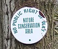 Nature Conservation Area sign, Blackmore Wood - geograph.org.uk - 1164719.jpg