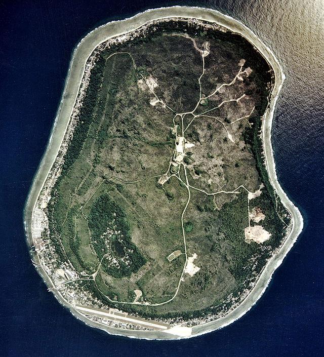Аэрофотоснимок острова Науру