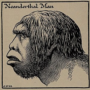 Neanderthal Man, H. G. Wells' Outline of History, page 39.jpg