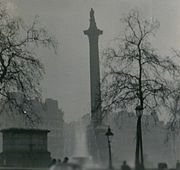 Picture of Nelson's Column during the Great Smog of 1952