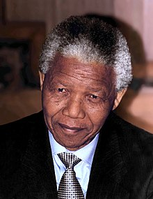 portrait photograph of a 76-year-old Mandela