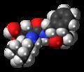 Neotame molecule spacefill.png