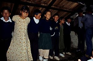 Nepalese children practicing dance