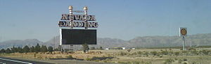 Jean, Nevada - The sign marking the location of the former Nevada Landing Casino