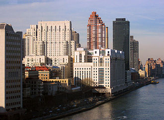 Health care - NewYork–Presbyterian Hospital in New York City is one of the world's busiest hospitals. Pictured is the Weill-Cornell facility (white complex at the center).