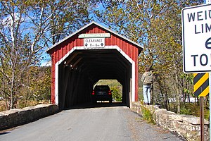 New Germantown Covered Bridge - New Germantown Covered Bridge, October 2010
