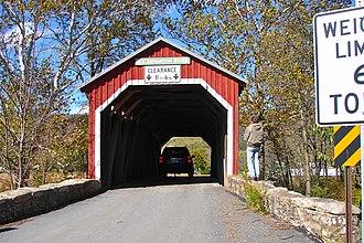 New Germantown Covered Bridge - New Germantown Covered Bridge, October 2010