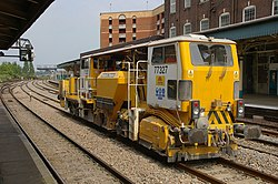 A Network Rail maintenance vehicle in Newport, England. Image: mattbuck.