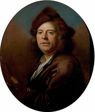 Jan Siberechts - Portrait of Jan Siberechts by Nicolas de Largillière