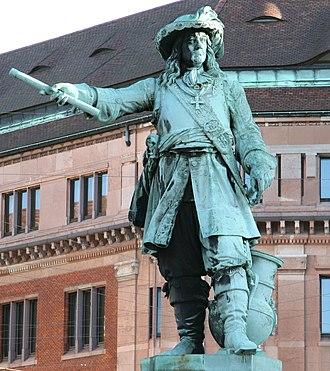 Niels Juel - Niels Juel statue at Holmen Canal in Copenhagen
