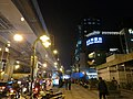Night in front of Taipei Bus Station and Zhongshan Metro Mall Exit R1 20131203.jpg