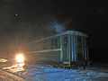 Night train at Golovanova Dacha, Tumskaya railway (10074713794).jpg