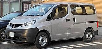 Nissan NV200 - A grey Nissan NV200 van