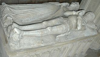 St Mary's Church, North Leigh - Alabaster effigies of Sir William Wilcote (died 1410) and his wife