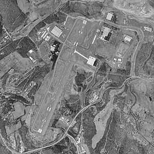 North Central West Virginia Airport - USGS 1997 orthophoto