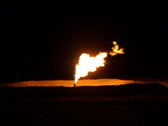 Gas flare - North Dakota Flaring of Gas