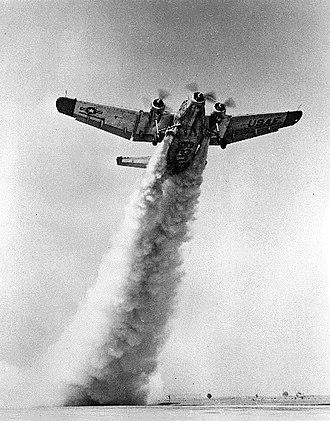 Northrop YC-125 Raider - A YC-125 performs a JATO takeoff