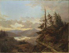 Norwegian Landscape in the Light of Early Morning (Kung Karl XV) - Nationalmuseum - 18204.tif