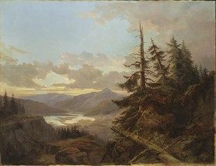 Norwegian Landscape in the Light of Early Morning