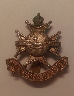 14th Cavalry Brigade (British Indian Army) - Nottinghamshire and Derbyshire Mounted Brigade Cap Badge