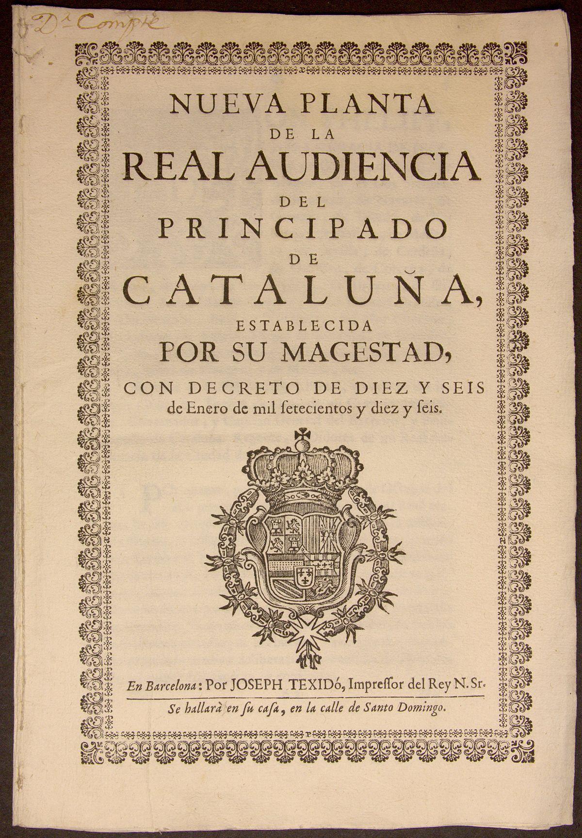 Decretos de Nueva Planta - Wikipedia, la enciclopedia libre