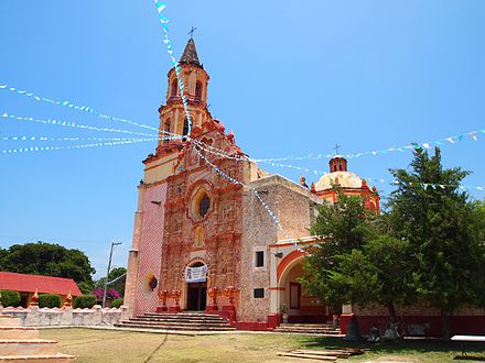 Mission church at Tancoyol Nuestra Senora de la Luz de Tancoyol.JPG