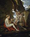 Nymphe et satyre buvant - Poussin - Museo del Prado.jpg
