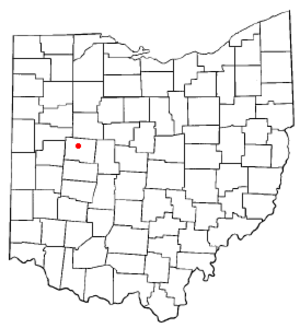 Huntsville, Ohio - Image: OH Map doton Huntsville